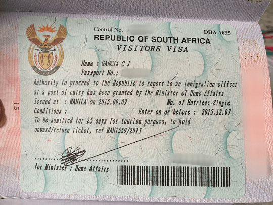 south africa visa fee in nigeria