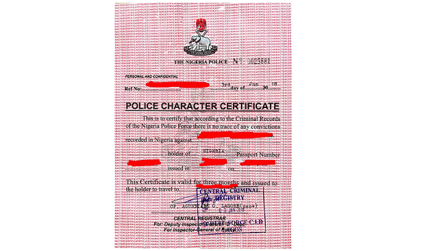 Cost of Police Clearance in Nigeria (September 2021)